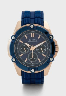 Guess Mens Blue Analog Multi-Function Watch - W1302G4