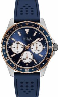 GUESS Odyssey Quartz Navy Dial Navy Rubber Men's Watch W1108G4