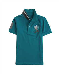 Junior 3D Lion Multi-color embroidery polo    12-13yrs