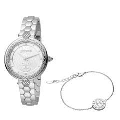 Just Cavalli Lady Ss Brac+Bracelet Silv/Sto JC1L128M0055