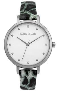 Karen Millen Lady GREY LEOPARD LSTR  KM189E