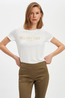 Letter Printed Short Sleeve T-Shirt 8682446902623  M