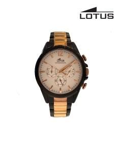Lotus Watch/Gents/Chrono/Silver Dial/Black Case/Bio Colour Bracelet
