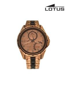 Lotus Watch/Gents/Multifunction/R Gld Dial R Gld Case/Bio Colour Bracelet