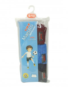 Lux Maestro Boys Boxer Pack Of 3 : 5-6Yrs