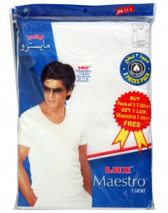 Lux Maestro Mens T-Shirt Pack Of 3+(1 Pc Free) Size: 44