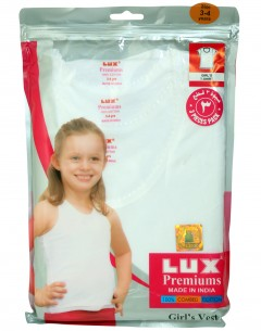 Lux Premium Girls T-Shirt Pack Of 3: 3-4Yrs