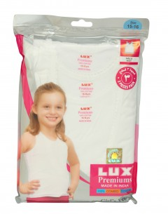 Lux Premiums Girls Vest Pack Of 3 : 3-4Yrs