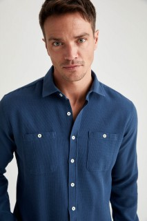 Man Long Sleeve Shirt INDIGO- S