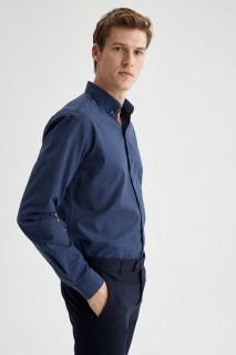 Man Long Sleeve Shirt INDIGO- XS
