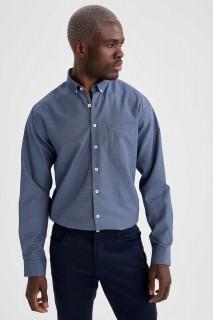Man Long Sleeve Shirt NAVY- XS