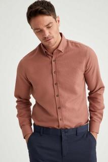 Man Long Sleeve Shirt PINK- XS