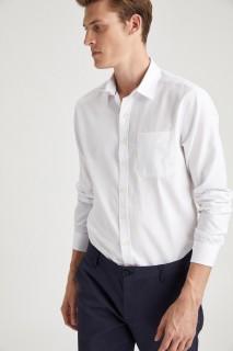 Man Long Sleeve Shirt WHITE- XS