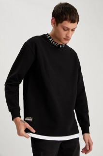 Man Sweat Shirt BLACK- XS