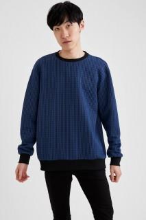 Man Sweat Shirt BLUE- XS