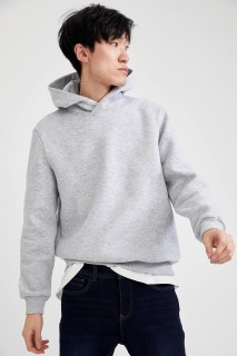 Man Sweat Shirt GREY MELANGE - XS