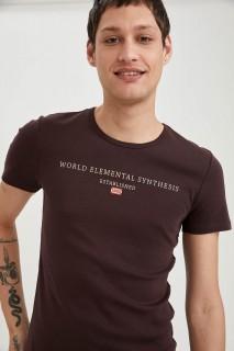 Man T-Shirt BROWN- S