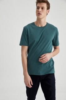 Man T-Shirt GREEN MELANGE- S