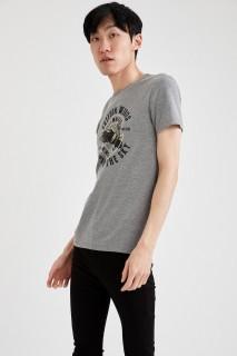Man T-Shirt GREY MELANGE- S