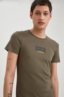 Man T-Shirt Khaki- 3XL