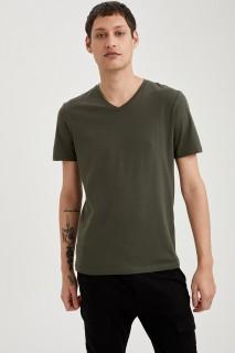 Man T-Shirt Khaki- S
