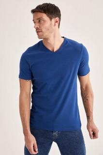 Man T-Shirt NAVY- S