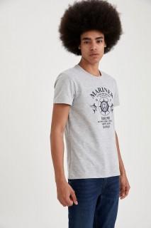 Man T-Shirt OPTIC LT.GREY MELANGE- S
