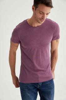 Man T-Shirt PURPLE MELANGE- XS