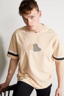 Man T-Shirt SALMON- XS