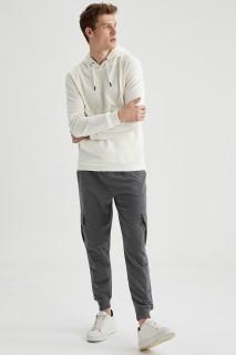 Man Trousers ANTRA MELANGE- XS