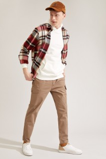 Man Trousers CAMEL- 28