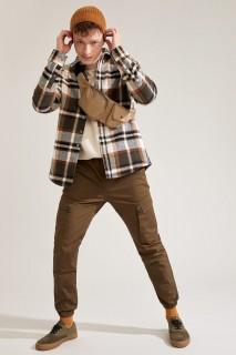 Man Trousers Khaki- 30