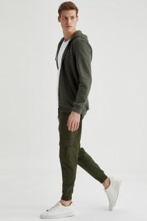 Man Trousers Khaki- XS