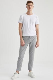 Man Trousers LT.GREY MELANGE- XS