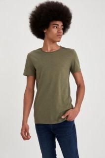 Man's KHAKI MELANGE T-Shirt-XS