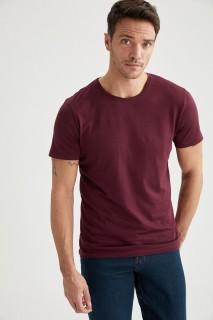 ManT-Shirt BORDEAU- S
