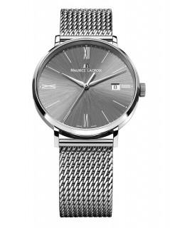 Maurice Lacroix Mens Eliros Analog Display Analog Quartz Silver Watch