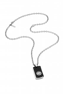 Police Button Up Necklace For Men