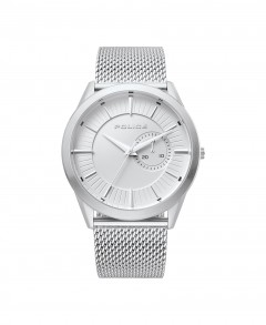 Police Helder Mens Silver Dial Stainless Steel Band Watch