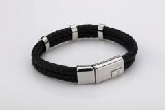 Police Leather Strap Bracelet