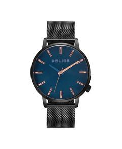 Police Marmol Mens' Watch Blue Dial Black Mesh Bracelet P15923JSU-03MM