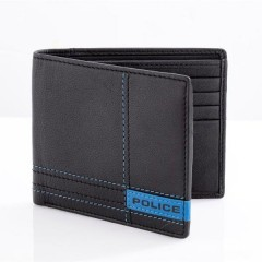 Police Men Black Wallet