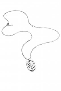 Police Mens Stainless Steel Newtown Pendant Necklace