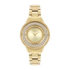 Police Pilat Women Gold Quartz Analog Watch