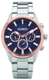 Police Weston Watches For Men Blue Dial P15521JSTR-03M