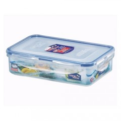 Rectangular Short Food Container 800Ml W/Divider