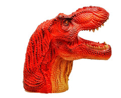 Red Tyrannosaurus with Infrared induction and sound