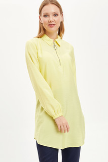 Shirt Collar Zipper Tunic 8682283551138  L