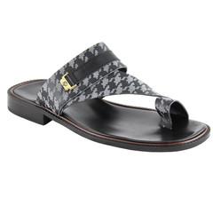 Shoe Palace Men Slippers V2573 Black Grey