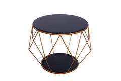 Side Table LSR 19072,Black/Golden